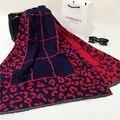 2016 мода люксовый бренд кашемир шарф Женщины дизайнер шерсть сексуальная leopard шарфы Пашмины платок écharpe cachecol пончо