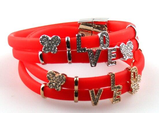 Aliexpresscom  Buy Red silicon white CZ stone love letter words