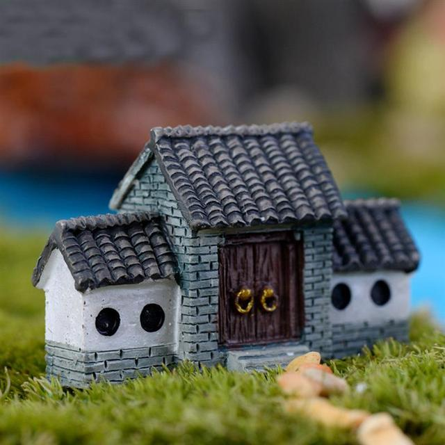 Ancient House Archway Micro Landscape Mini Old City Gate Resin Diy