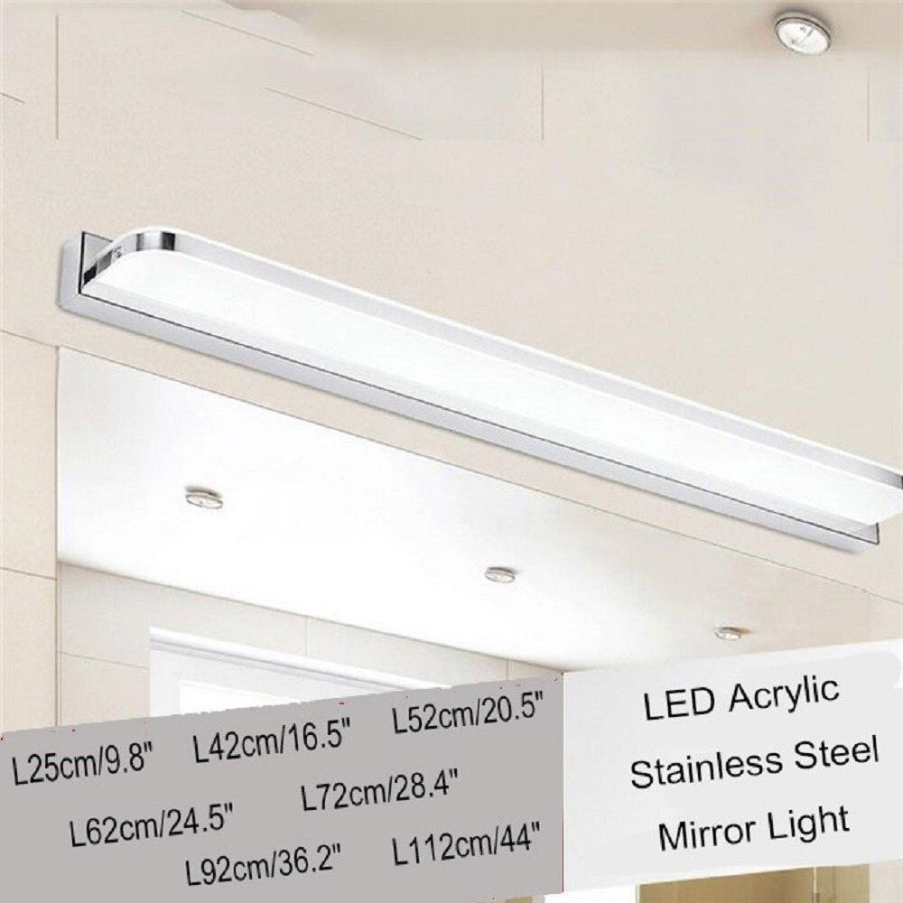 Vanity lighting L25 42 52 62 92 112cm Modern Acrylic LED mirror front light bathroom cabinet