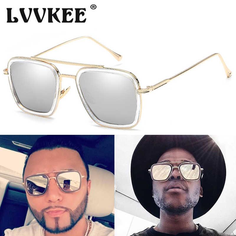 7ddcbd754a ... Avengers Infinity War Tony Stark Sunglasses Luxury Brand Iron Man  Glasses Square Vintage Superhero Sun Glasses ...