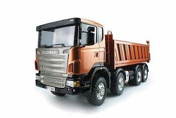 LESU 1/14 Metal 8*8 Hydraulic Dumper RC Sca Truck Model Motor ESC DIY Tmy TH02018