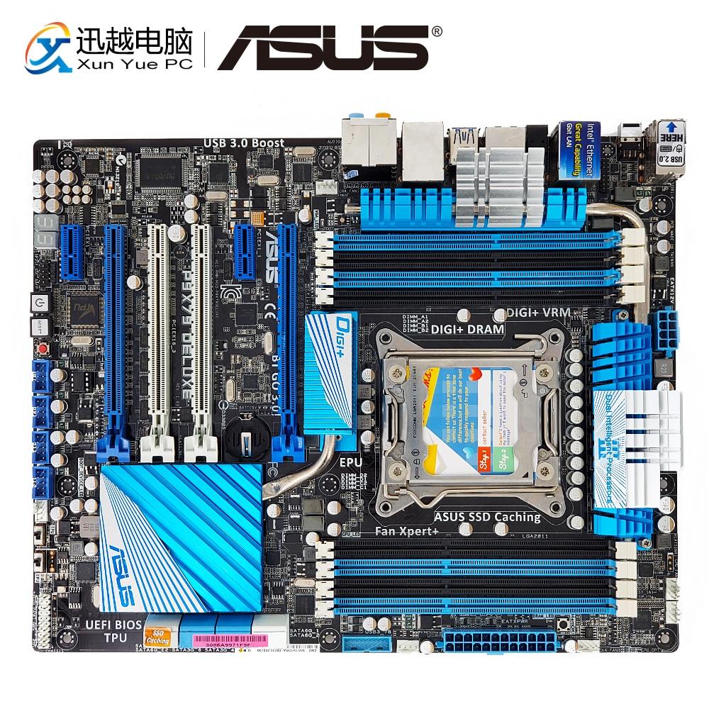 цена на Asus P9X79 DELUXE Desktop Motherboard X79 Support Socket LGA 2011 32nm i7 DDR3 64G eSATA SATA3 USB3.0 ATX