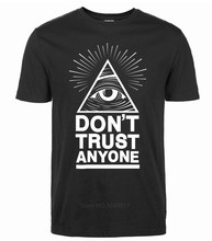 2018 Cotton T Shirts 100% For O-Neck Graphic Short Sleeve Dont Trust Anyone Men