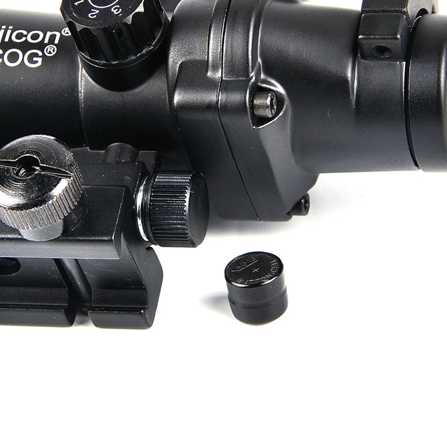 ACOG 1X32 Tactical Red Green Dot Sight Illuminated Optical Rifle Scope With 20mm Rail For Airsoft Gun 5