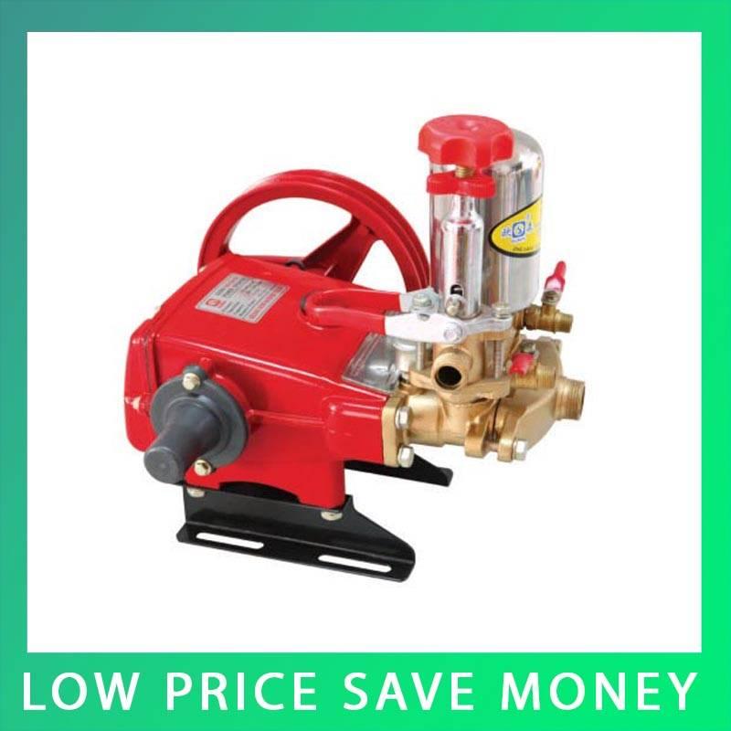 46 60l min high capacity three cylinder piston pump cast iron spray pesticide pump head Good Quality Pressure Cleaner Pump Head Car Hand Piece Cylinder Piston Pump Garden Spray Pump