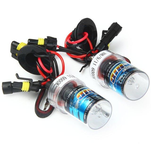 H8/9/11 35W Super Bright 6000K 3600lm White Light Auto HID Xenon Lamp Car Headlamp 2pcs Metal Holder Replacement Light Lamp Bulb