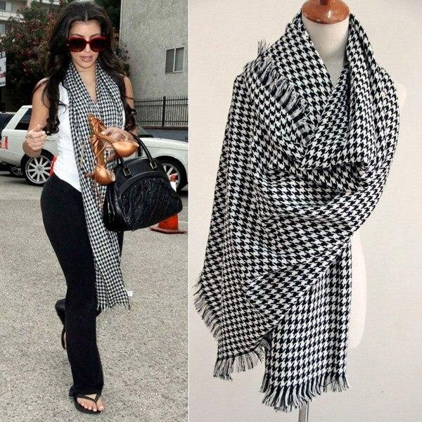 2016 зима-мужчин шарф женский пуловер теплой шерсти трикотажные крючком классические хаундстут шарф шарф зимы 80722
