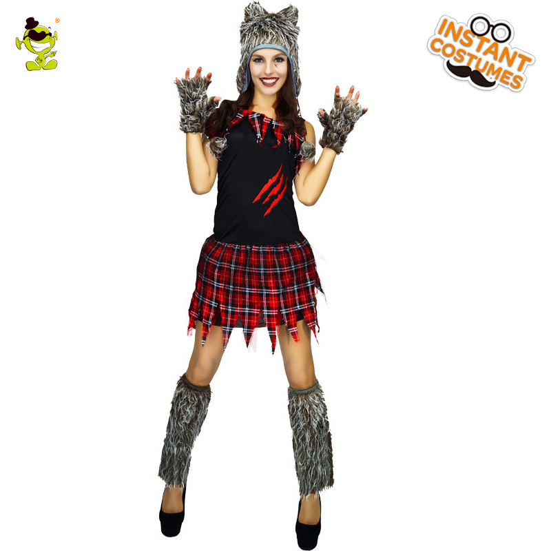 Adults Wolf Costume For Wolf Cosplay Lovely Animal Costumes For Female Animal  Halloween Party Dress Costumes