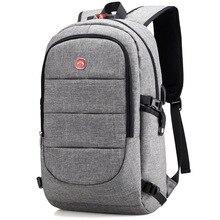 Купить с кэшбэком 2019 Fashion man laptop backpack usb charging computer back packs casual style bags large male business teenagers travel bags