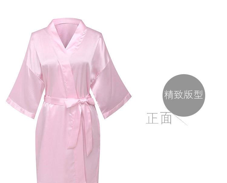 2be06988 Dulces trajes de dama de honor mujeres boda novia bata de seda Pijamas  Mujer Albornoz ropa de dormir Kimono camisón pijama camisón