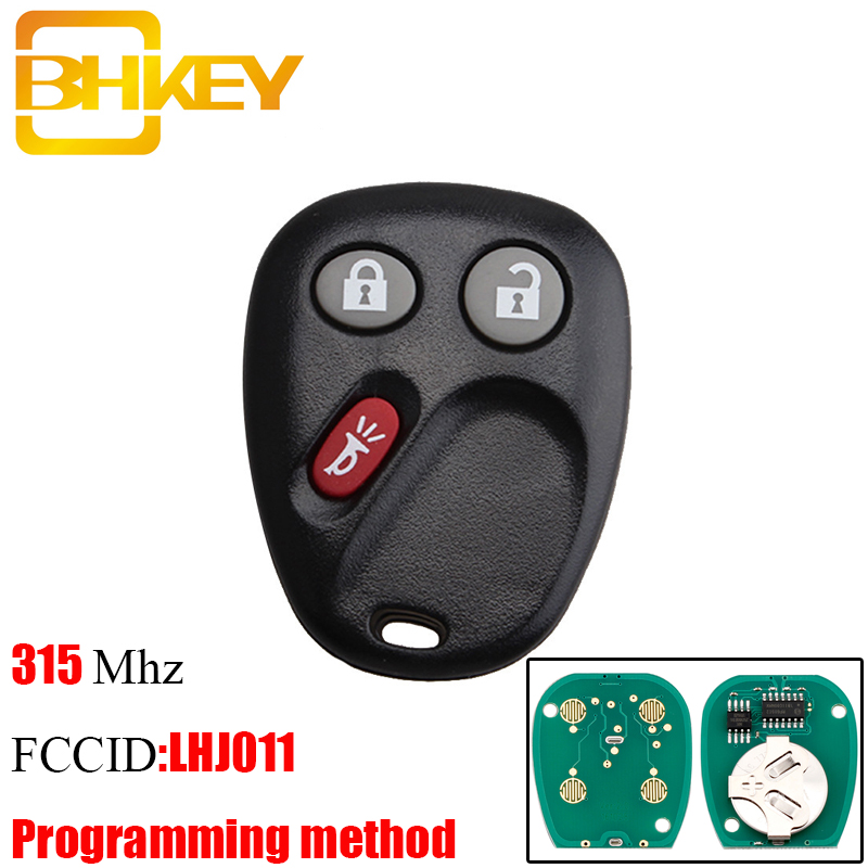 US $5 69 29% OFF|BHKEY 3Buttons Remote Key Keyless Entry Fob For LHJ011  315Mhz for GM Hummer H2 Chevrolet Avalanche Cadillac Escalade 2003 2006-in  Car