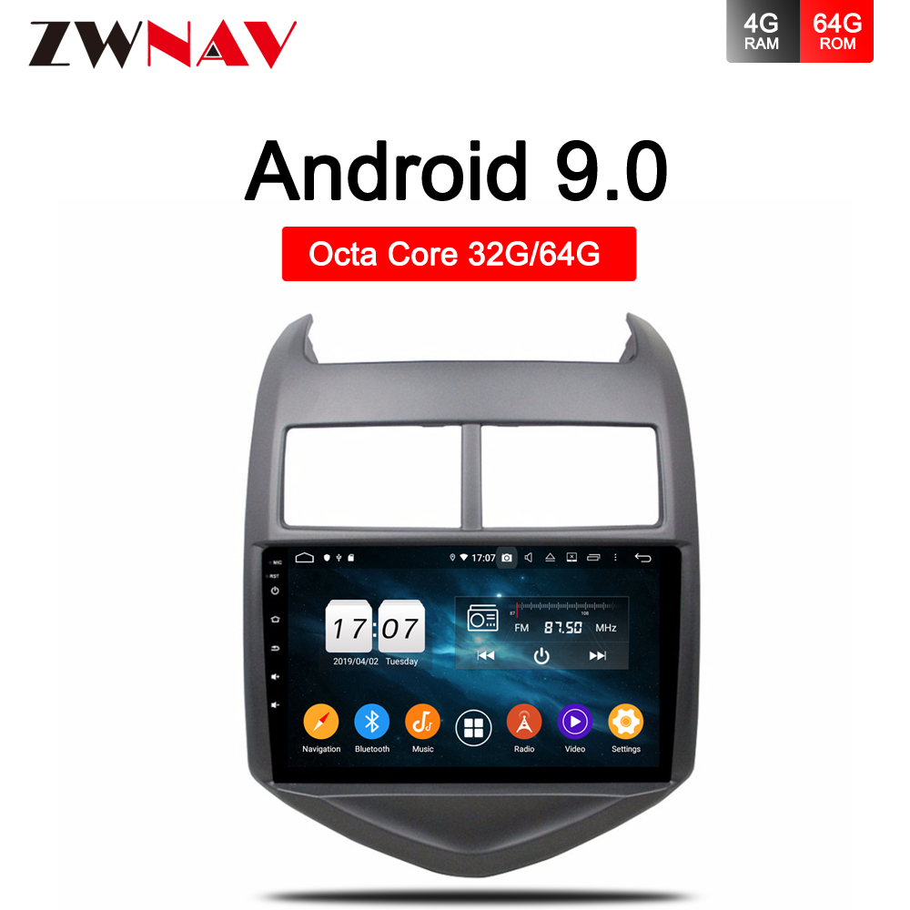 DSP 4G+64GB Android 9.0 gps navigation for Chevrolet <font><b>Aveo</b></font> 2 2011 2012 <font><b>2013</b></font> 2014 2015 Car Radio Multimedia Video Player head unit image