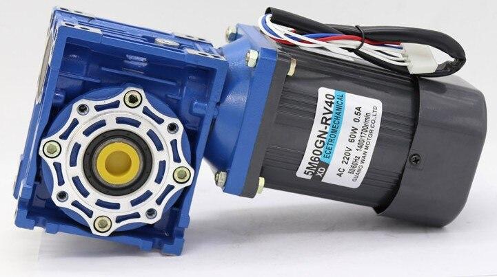 Moteur à engrenages à vis sans fin 220 V 60 W (moteur + régulateur) RV40 moteur à courant alternatif monophasé moteur CW et CCW