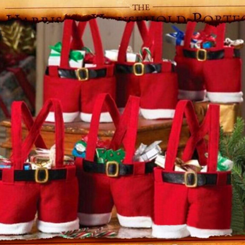 Rbol de navidad de santa pants regalo y tratar bolsas de for Decoracion del hogar en navidad