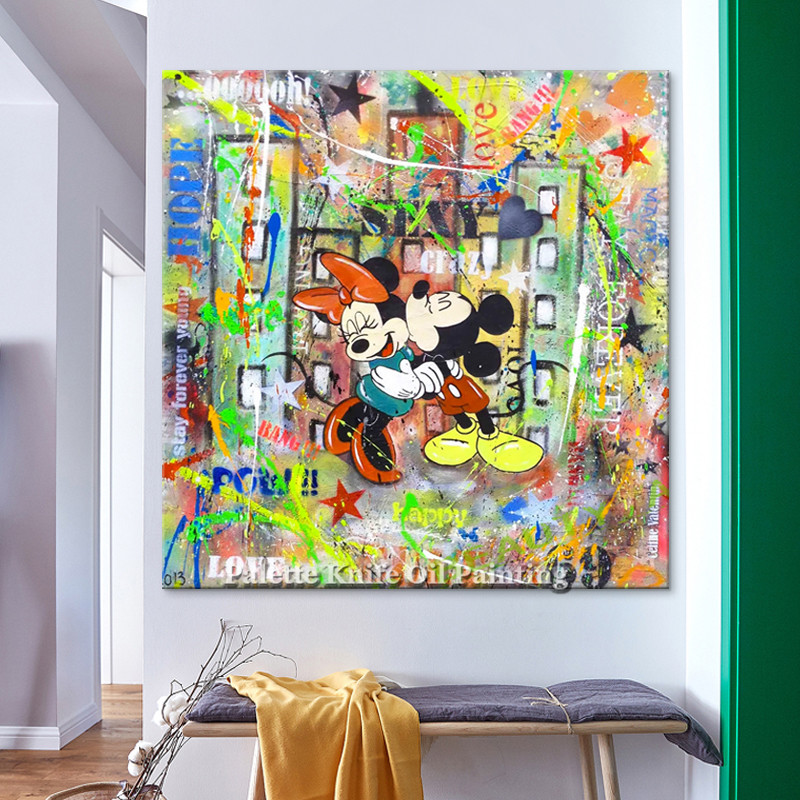 Poster and print alec graffiti pop art painting street art urban art on canvas wall pictures