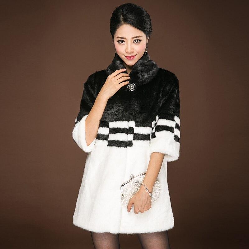 2018 אסיה באיכות גבוהה בינוני ארוך נשים מעיל פרוות שועל מזויף החורף פו מינק הפרווה אשת מעילי פרווה חמים נקבה גבירותיי פרווה