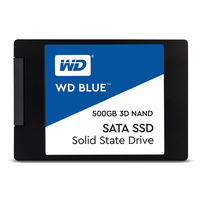 Western Digital WD Blue SSD interne Solid State Disque 500 Go SATA 6 Gbit/s 2,5 WD Blue 3D NAND SATA SSD WDS500G2B0A