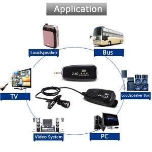 Image 4 - Новый беспроводной микрофон 2,4G с петлей, нагрудный микрофон, гитарный Пикап для динамиков, портативный аудио и видео