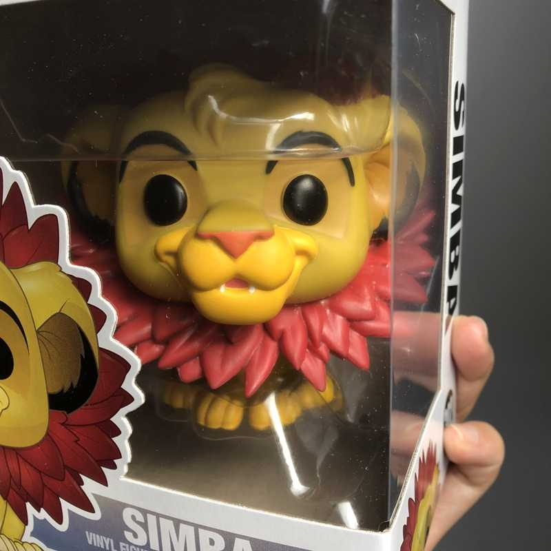2017 Funko pop oficial Dos Desenhos Animados The Lion King-Simba (Folha Juba) vinil Figura de Ação Collectible Toy Modelo com Caixa Original