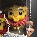 2017 Funko pop официальный мультфильм Король Лев-Симба (лист грива) Виниловая фигурка Коллекционная модель игрушки с оригинальной коробкой