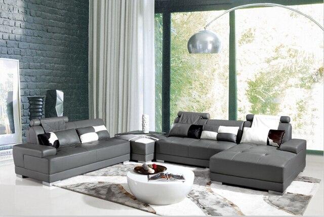Canapés Pour Salon Avec Canapé Du0027angle En Cuir Pour Canapé Moderne Ensemble  Grand Canapé