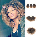 8inches 3pcs/set Ombre Blonde MaliBobo Curl Afro Kinky Twist Braid Kinky Curly Loop Synthetic Crochet braid hair extensions