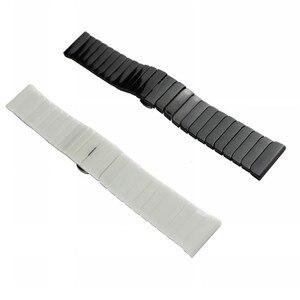 Image 2 - 22mm 20mm Ceramic Xem Nhạc Cho Samsung Galaxy Đồng Hồ 42mm 46mm Dây Đeo Bướm Khóa Thay Thế Vòng Đeo Tay strap watchbands