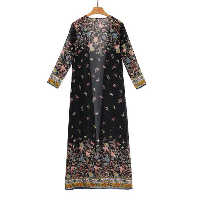 Boho Chiffon Long Kimono