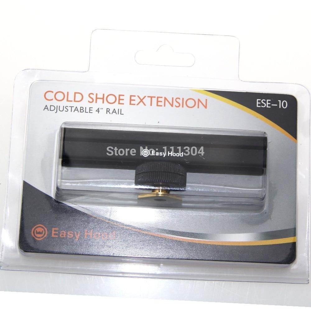 Mircophone LED 4 Hot Shoe Cold Shoe Extension Rail Bar for Canon Nikon Camera