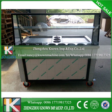 HIgh output 2 square pan with 11 topping cooling pans thailand fried ice cream machine,fry ice cream machine