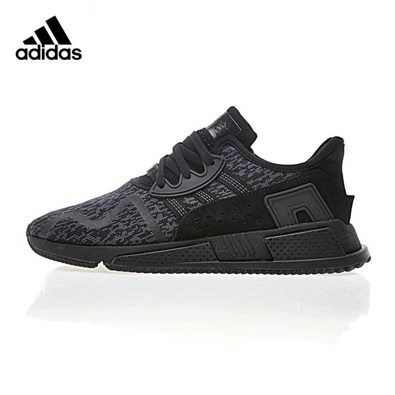 promo code c129b aa7a0 Original New Arrival Official Adidas EQT Cushion ADV Men s All Black Running  Shoes Sport Outdoor