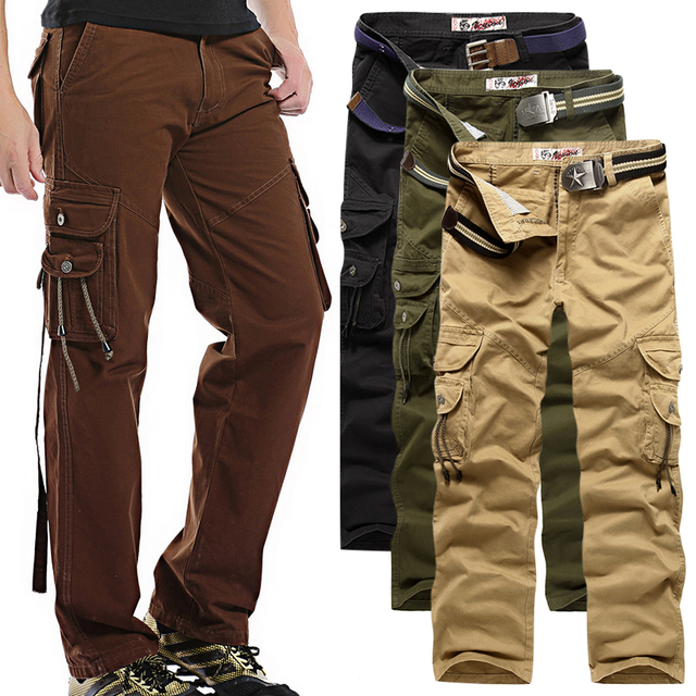 7235f6790b87c2 2017 New Arrival High Quality All Seasons Men Cargo Trousers Style Fashion  Clothing Solid Mens Cargo Cotton Men Pants