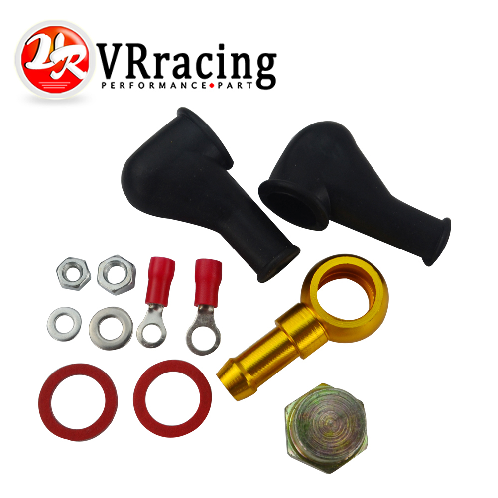 VR RACING - 044 ÜZEMANYAGSZIVATTYÚ BANJO FITTING KIT HOSE ADAPTER UNION 8MM OUTLET TAIL VR-FK046