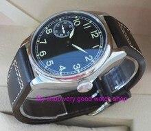 44mm PARNIS Asian 6497/3600 Gooseneck Mechanical Hand Wind movement Luminous mens watch Mechanical watches 160