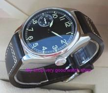 PARNIS Asian 6497/3600, 44mm, col de cygne mécanique, main, mouvement éolien, lumineux, montre montre pour hommes, 160