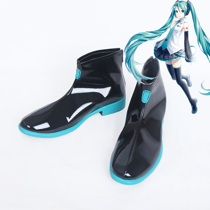 Anime Vocaloid Hatsune Miku Cosplay Boots Shoes Custom Made New