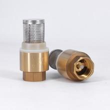 """1/"""" 3/4"""" """"-2"""" BSPP Женский латунный обратный клапан невозвратный со стальным фильтром фильтр для водопроводного насоса"""