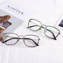 12343f206ce Eyeglasses Gafas Hot Style Men s Boutique Commercial Flat Light Mirror  Small Square Myopic Glasses Frame Retro