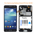 Black For Samsung Galaxy Grand Prime G530 LCD Display Touch Screen Digitizer Assembly With Frame Replacement