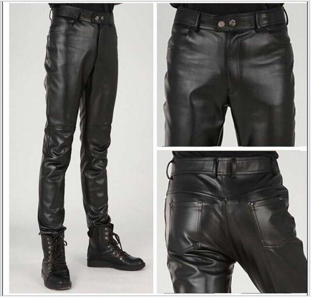 В весна бренд локомотив брюки мужчины человек кожа брюки 28 - 38