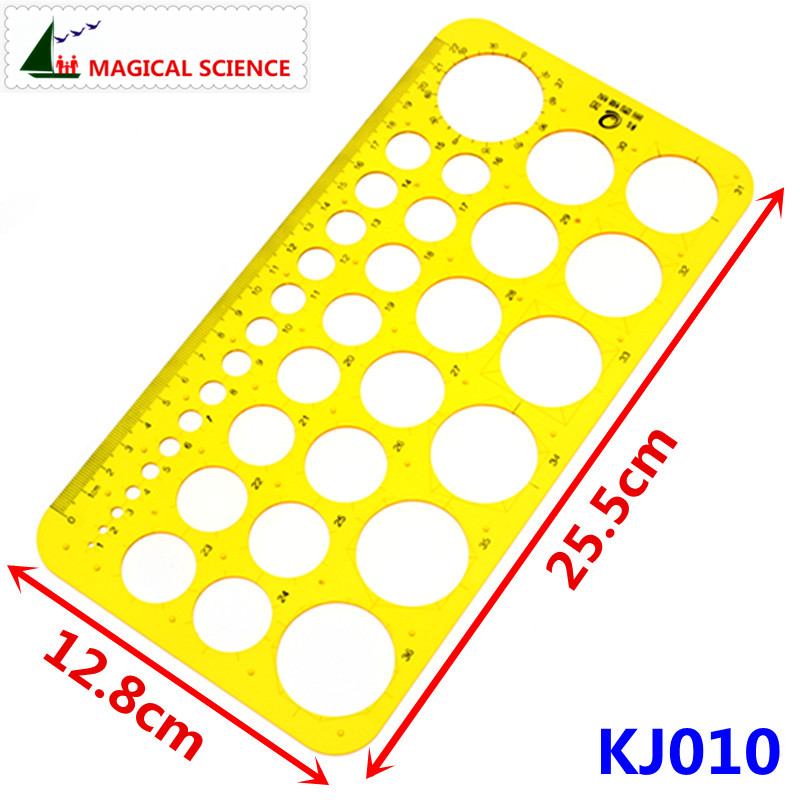 22cm Transparent Plastic Circular Drawing Template Drawcircle Board Design Ruler For Students Designers KJ010