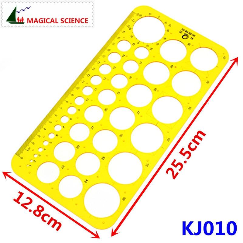 22cm Transparent Plastic Circular Drawing Template Drawcircle Board Design Ruler For Students Designers KJ010