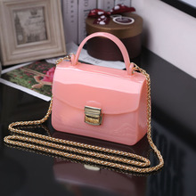 2017 new woman fashion jelly bag mini handbag chain bag shoulder bag diagonal package