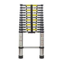 Smartlife 12,5 футов Выдвижной Телескопический алюминий переносная лестница с палец защиты распорки, телескопическая лестница