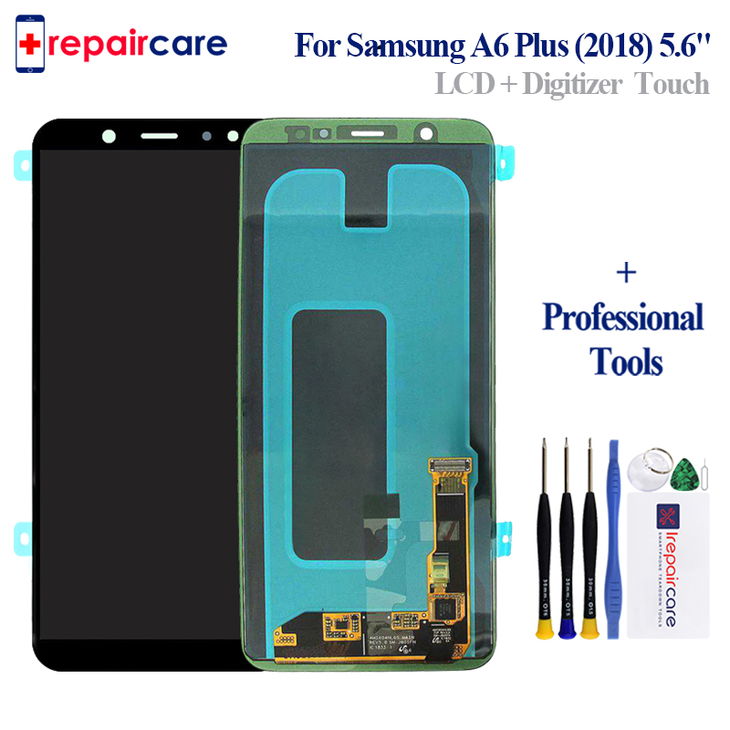 For Samsung Galaxy A6 Plus 2018 LCD display Touch Screen Digitizer Assembly A605 A605fd replacement For
