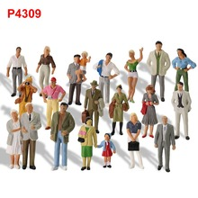 20pcs Different Poses Model Trains 1:43 O Scale All Standing Painted Figures Passengers People Model Railway P4309