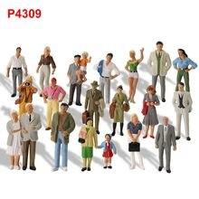 20 sztuk różne pozy Model pociągi 1:43 O skala wszystkie stojące malowane figurki pasażerowie ludzie Model kolejowy P4309