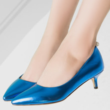 Womens sexy stiletto heels shoes gold silver blue pink red pointed toe 3.5cm low heel girls party shoes ladies casade pump 231-A