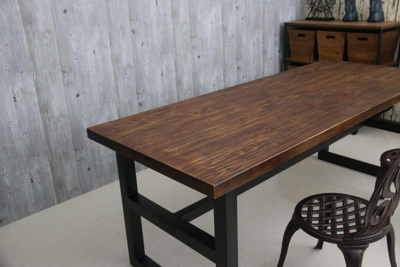 Americano retrò dinette combinazione di legno massello, in ferro ...